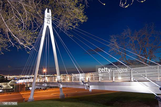 Spring/Summer night view of the Olympic Legacy Bridge, University of Utah.