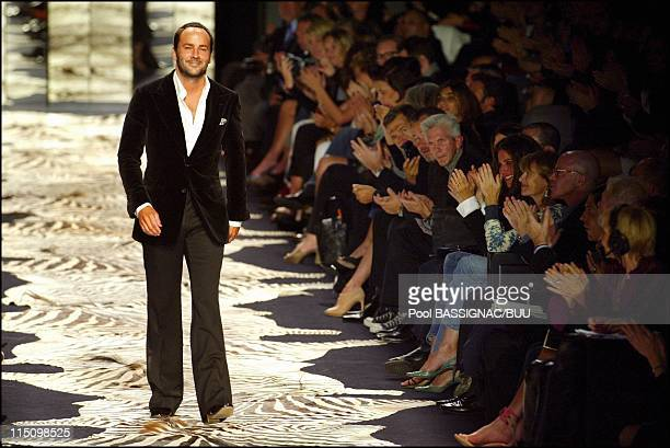 Springsummer Yves Saint Laurent fashion show in Paris France on October 12 2003 Designer Tom Ford