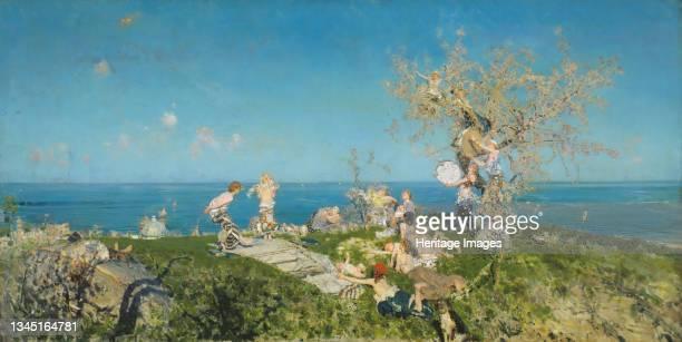 Springtime and Love, 1878. Artist Francesco Paolo Michetti.