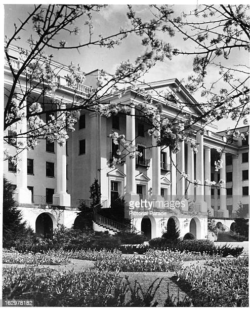 Springtime at The Greenbrier in White Sulphur Springs West Virginian 1955