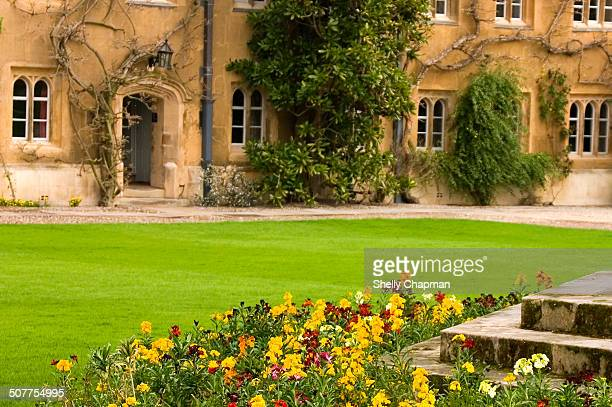 CONTENT] Springtime at Trinity College Cambridge University Views over the college's exterior stone buildings from the courtyard fountain