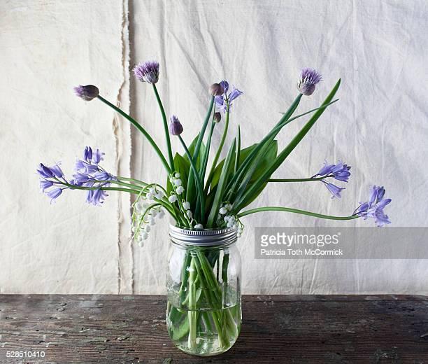 Springtime Flowers in Jar