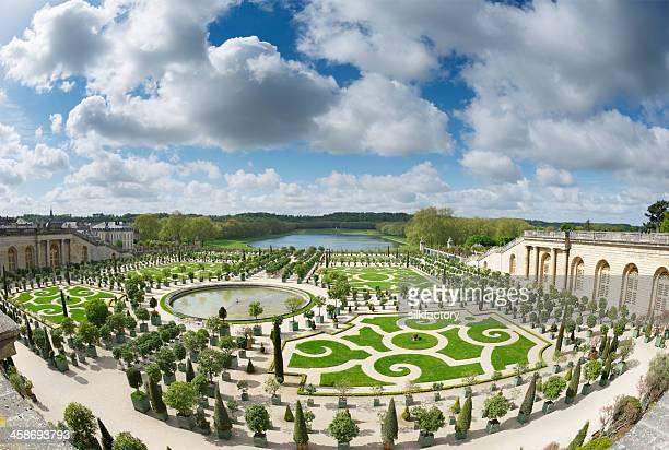 Le printemps dans le jardin extérieur Palace de Versailles