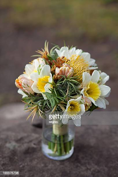 Springtime wedding bouquet