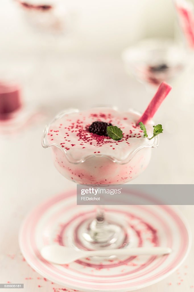 sprinkles berry natural ingredient milkshake : Stock Photo