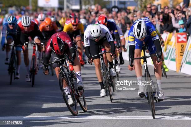 Sprint / Arrival / Alvaro Jose Hodeg Chagui of Colombia and Team Deceuninck - Quick-Step / Kristoffer Halvorsen of Norway and Team INEOS / Edvald...