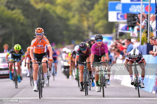 Sprint / Arrival / Amy Pieters of The Netherlands and Boels Dolmans Cyclingteam / Celebration / Marianne Vos of The Netherlands and Waowdeals Pro...