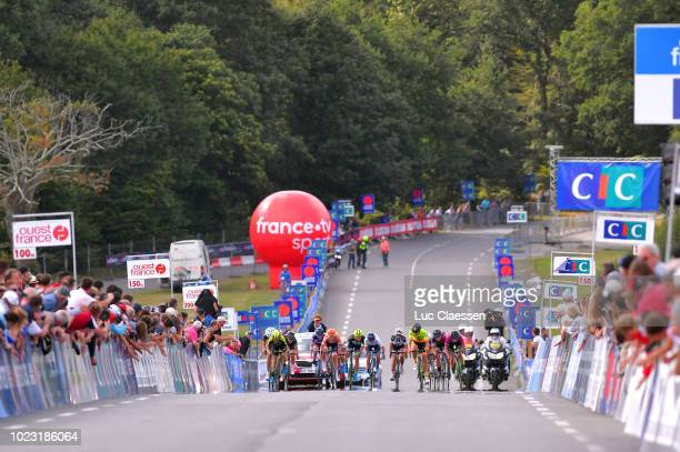 Sprint / Arrival / Amy Pieters of The Netherlands and Boels Dolmans Cyclingteam / Marianne Vos of The Netherlands and Waowdeals Pro Cycling Team UCI...