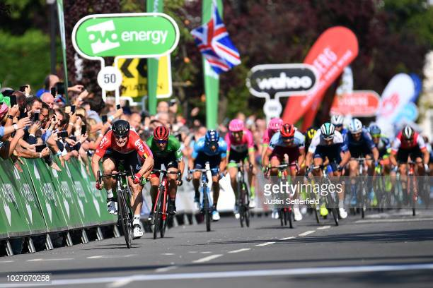 Sprint / Arrival / Andre Greipel of Germany and Team Lotto Soudal / Sacha Modolo of Italy and Team EF Education FirstDrapac p/b Cannondale / Patrick...