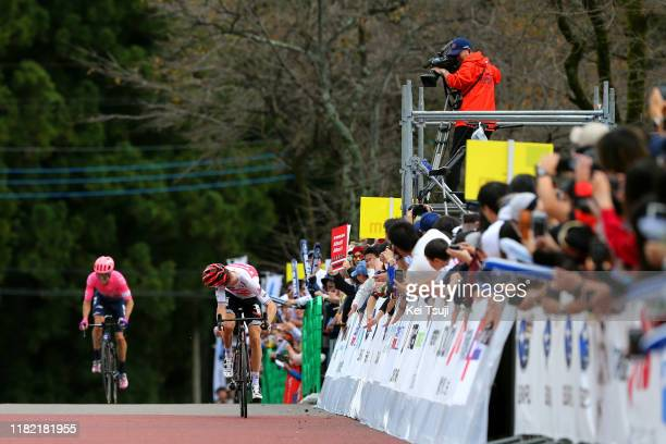 Sprint / Arrival / Bauke Mollema of Netherlands and Team TrekSegafredo / Michael Woods of Canada and Team EF Education First / during the 28th Japan...