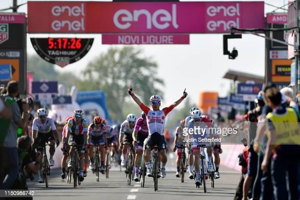 Sprint / Arrival / Caleb Ewan of Australia and Team Lotto Soudal / Celebration / Arnaud Demare of France and Team Groupama - FDJ / Pascal Ackermann...