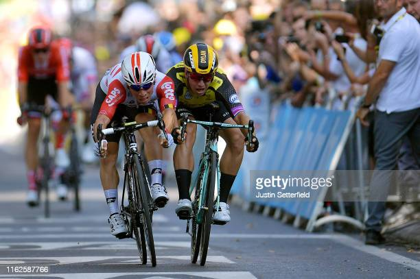 Sprint / Arrival / Caleb Ewan of Australia and Team Lotto Soudal / Dylan Groenewegen of The Netherlands and Team Jumbo-Visma / during the 106th Tour...