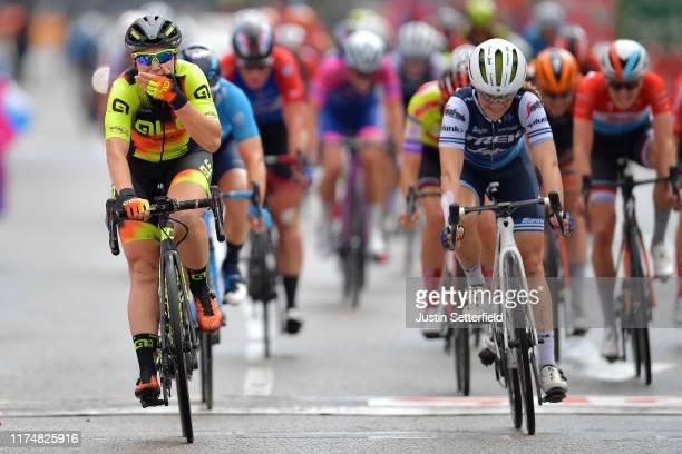 Sprint / Arrival / Chloe Hosking of Australia and Team Ale Cipollini / Celebration / Letizia Paternoster of Italy and Trek- Segafredo / Roxane...