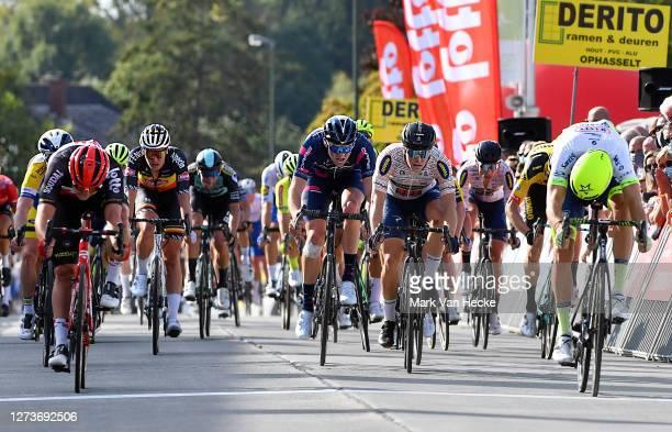 Sprint / Arrival / Danny Van Poppel of The Netherlands and Team Circus - Wanty Gobert / Gerben Thijssen of Belgium and Team Lotto Soudal / Arvid De...