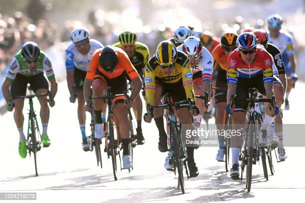 Sprint / Arrival / Dylan Groenewegen of The Netherlands and Team Jumbo-Visma / Fabio Jakobsen of The Netherlands and Team Deceuninck - Quick-Step /...