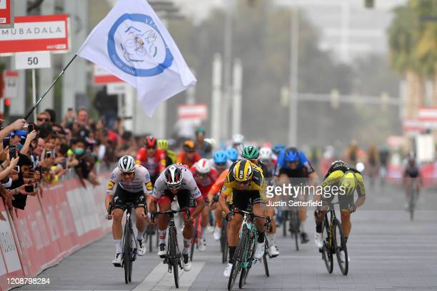 Sprint / Arrival / Dylan Groenewegen of The Netherlands and Team Jumbo - Visma / Fernando Gaviria Rendon of Colombia and UAE Team Emirates / Pascal...