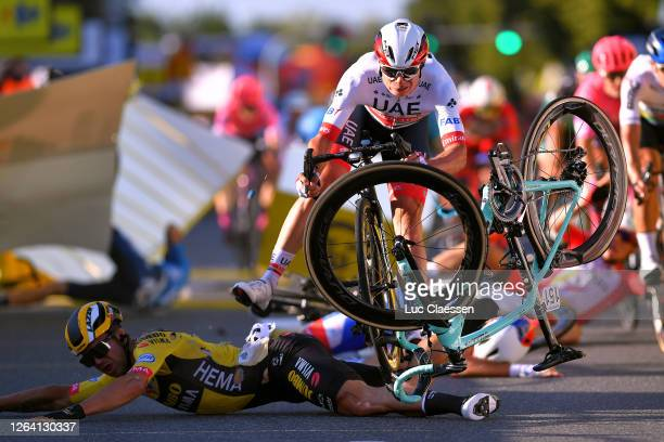 Sprint / Arrival / Dylan Groenewegen of The Netherlands and Team Jumbo - Visma / Jasper Philipsen of Belgium and UAE Team Emirates / Fabio Jakobsen...