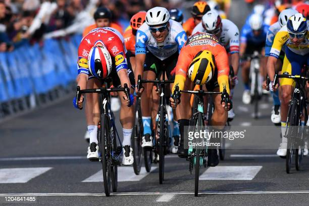 Sprint / Arrival / Dylan Groenewegen of The Netherlands and Team Jumbo-Visma Orange Combined Jersey / Fabio Jakobsen of The Netherlands and Team...