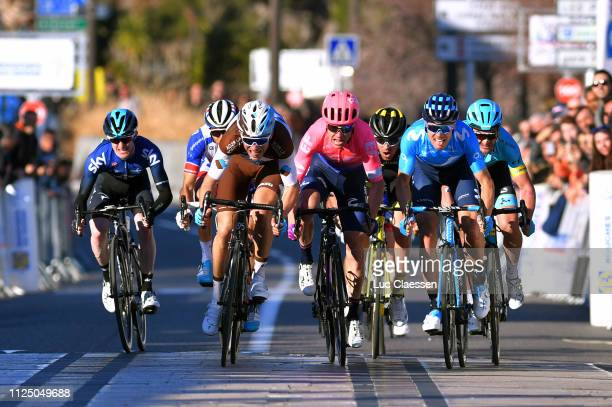 Sprint / Arrival / Eddie Dunbar of Ireland and Team Sky / Thibaut Pinot of France and Team Groupama - FDJ / Tony Gallopin of France and Team AG2R La...
