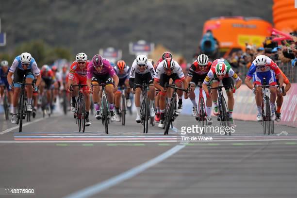 Sprint / Arrival / Elia Viviani of Italy and Team Deceuninck - Quick-Step / Fernando Gaviria Rendon of Colombia and UAE - Team Emirates / Arnaud...