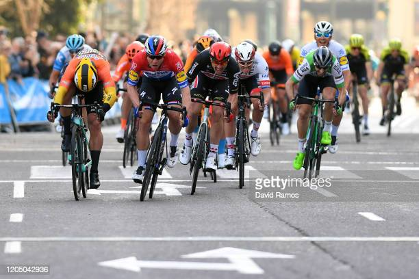 Sprint / Arrival / Fabio Jakobsen of The Netherlands and Team Deceuninck - Quick-Step / Dylan Groenewegen of The Netherlands and Team Jumbo-Visma...