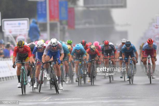 Sprint / Arrival / Fabio Jakobsen of The Netherlands and Team QuickStep Floors White Best Young Rider Jersey / Dylan Groenewegen of The Netherlands...