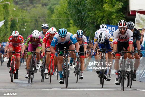 Sprint / Arrival / Fernando Gaviria of Colombia and UAE Team Emirates / Celebration / Rudy Barbier of France and Team Israel Start - Up Nation / José...