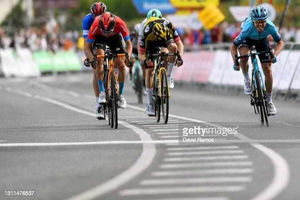 Sprint / Arrival / Ion Izagirre Insausti of Spain and Team Astana Premier Tech, Pello Bilbao López De Armentia of Spain and Team Bahrain Victorious,...