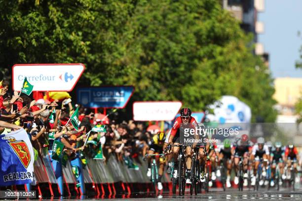 Sprint / Arrival / Jelle Wallays of Belgium and Team Lotto Soudal / Sven Erik Bustrom of Norway and UAE Team Emirates / Peter Sagan of Slovakia and...