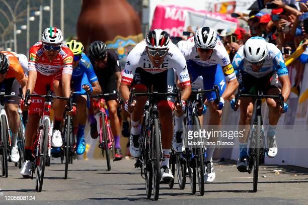 Sprint / Arrival / Juan Sebastian Molano Benavides of Colombia and UAE Team Emirates / Alvaro Jose Hodeg Chagui of Colombia and Team Deceuninck -...
