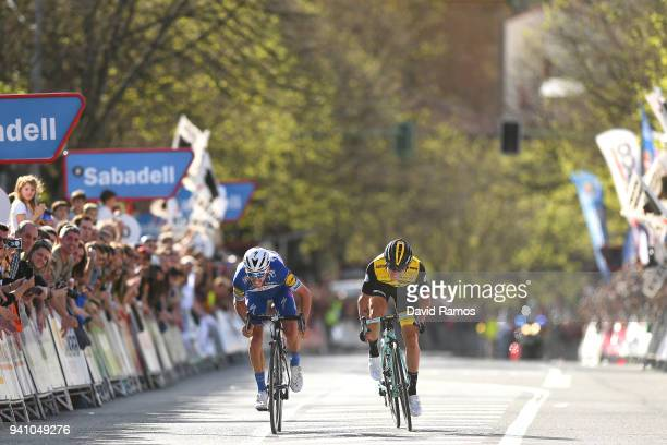 Sprint / Arrival / Julian Alaphilippe of France and Team QuickStep Floors / Primoz Roglic of Slovenia and Team LottoNLJumbo / during the 58th Vuelta...