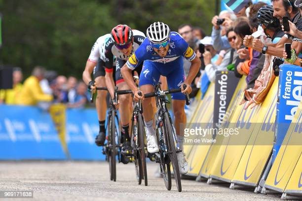 Sprint / Arrival / Julian Alaphilippe of France and Team Quick-Step Floors / Celebration / Daniel Martin of Ireland and UAE Team Emirates / Geraint...