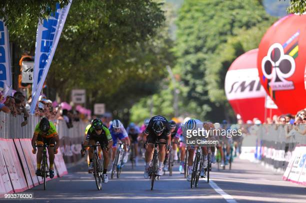 Sprint / Arrival / Kirsten Wild of The Netherlands and Team Wiggle High5 / Marta Bastianelli of Italy and Team Ale Cipollini / Giorgia Bronzini of...