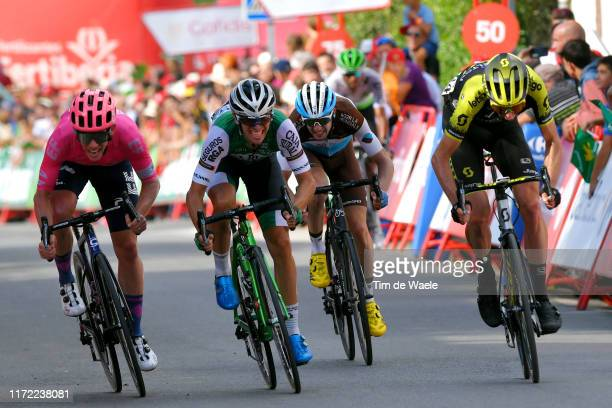 Sprint / Arrival / Lawson Craddock of The United States and Team EF Education First / Jonathan Mártinez Lastra of Spain and Team Caja Rural-Seguros...
