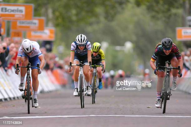 Sprint / Arrival / Lisa Klein of Germany and Team Canyon Sram Racing / Amy Pieters of The Netherlands and Boels Dolmans Cycling Team European...