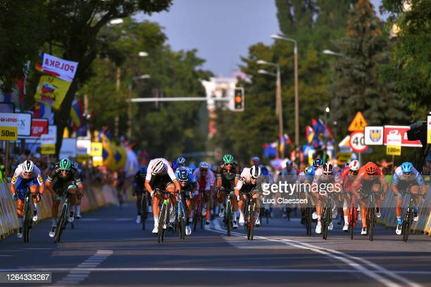 Sprint / Arrival / Mads Pedersen of Denmark and Team Trek - Segafredo World Champion Jersey / Pascal Ackermann of Germany and Team Bora - Hansgrohe /...