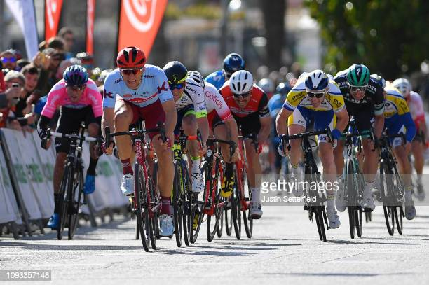 Sprint / Arrival / Marcel Kittel of Germany and Team Katusha Alpecin / Timothy Dupont of Belgium and Team Wanty Groupe Gobert / Hugo Hofstetter of...