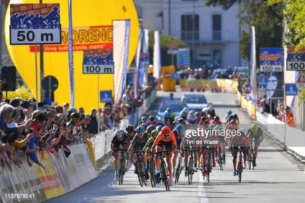 Sprint / Arrival / Marianne Vos of The Netherlands and Team CCC - Liv / Amanda Spratt of Australia and Team Mitchelton Scott / Cecilie Uttrup Ludwig...