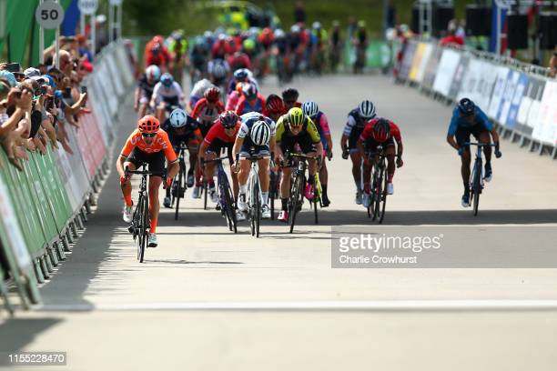 Sprint / Arrival / Marianne Vos of The Netherlands and Team CCC Liv / Lizzie Elizabeth ArmitsteadDeignan of United Kingdom and Team Trek Segafredo /...