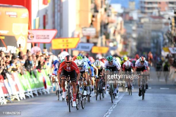 Sprint / Arrival / Michael Matthews of Australia and Team Sunweb / Alejandro Valverde Belmonte of Spain and Movistar Team / Daryl Impey of South...