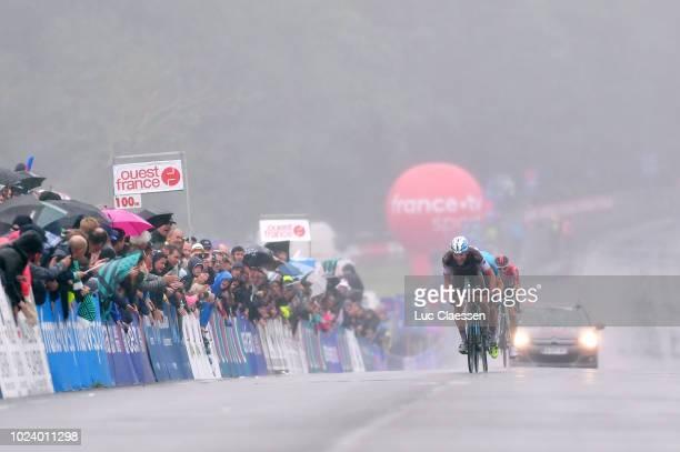 Sprint / Arrival / Oliver Naesen of Belgium and Team AG2R La Mondiale / Michael Valgren Andersen of Denmark and Team Astana Pro Team / Tim Wellens of...