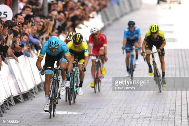 Sprint / Arrival / Omar Fraile Matarranza of Spain and Astana Pro Team / Primoz Roglic of Slovenia and Team LottoNLJumbo / Jon Izagirre Insausti of...