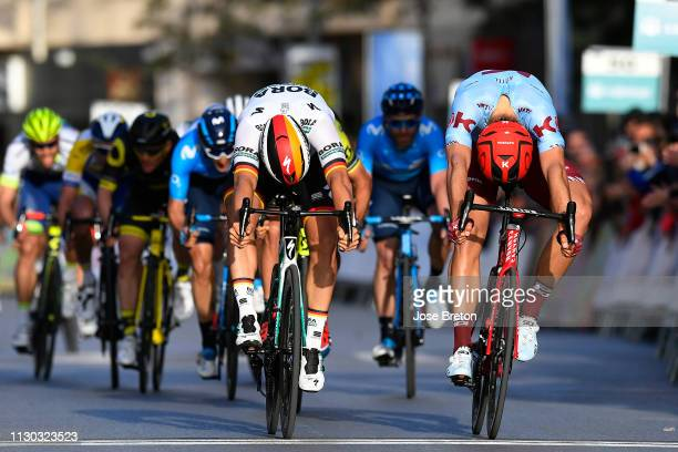Sprint / Arrival / Pascal Ackermann of Germany and Team Bora Hansgrohe / Marcel Kittel of Germany and Team Katusha Alpecin / during the 32nd Clásica...