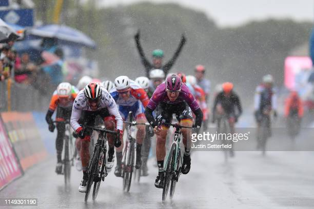 Sprint / Arrival / Pascal Ackermann of Germany and Team Bora - Hansgrohe Purple Points Jersey / Fernando Gaviria Rendon of Colombia and UAE - Team...