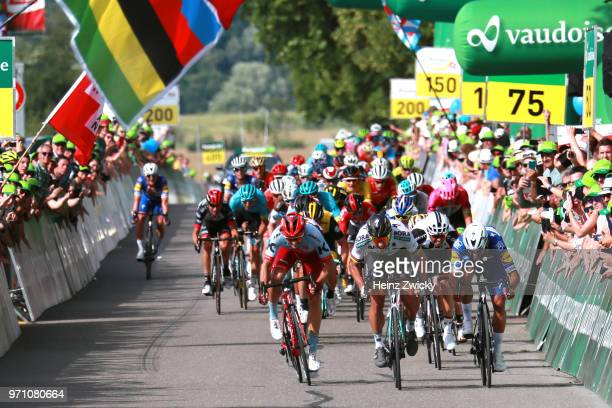 Sprint / Arrival / Peter Sagan of Slovakia and Team Bora - Hansgrohe / Celebration / Fernando Gaviria of Colombia and Team Quick-Step Floors / Nathan...