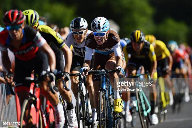 Sprint / Arrival / Pierre Latour of France and Team AG2R La Mondiale / during 105th Tour de France 2018, Stage 6 a 181km stage from Brest to...