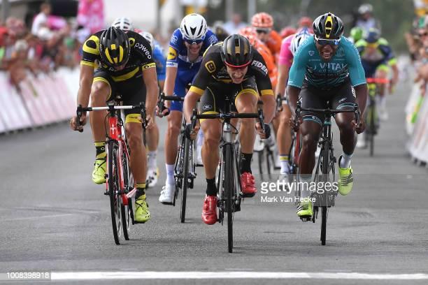 Sprint / Arrival / Quinten Hermans of Belgium and Team Telenet Fidea Lions / Lorrenzo Manzin of France and Team Vital Concept Cycling Club / Romain...