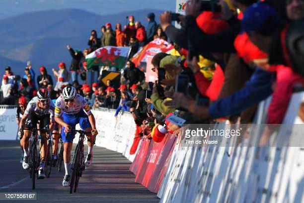 Sprint / Arrival / Remco Evenepoel of Belgium and Team Deceuninck - Quick Step / Maximilian Schachmann of Germany and Team Bora-Hansgrohe / Public /...