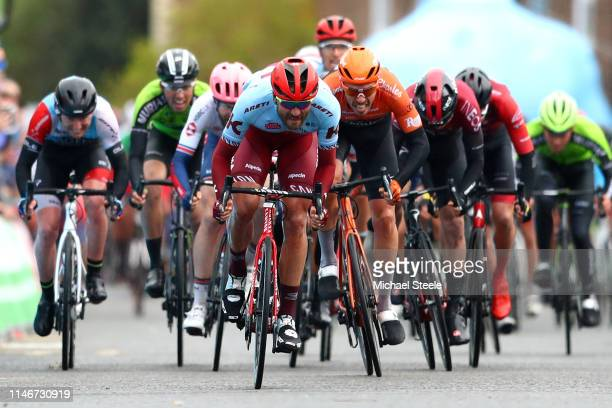 Sprint / Arrival / Rick Zabel of Germany and Team Katusha Alpecin / Boy Van Poppel of The Netherlands and Team Roompot-Charles / Christopher Lawless...