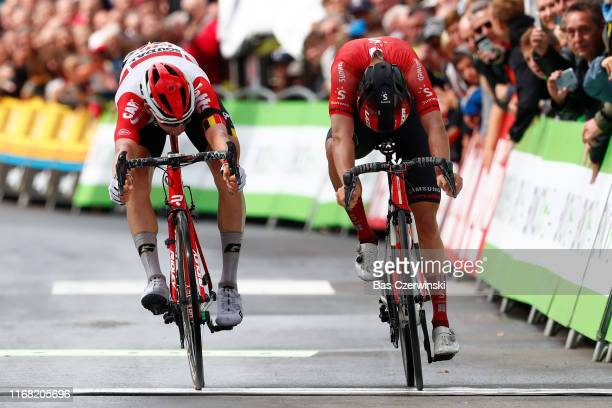 Sprint / Arrival / Tim Wellens of Belgium and Team Lotto Soudal / Marc Hirschi of Switzerland and Team Sunweb / during the 15th Binck Bank Tour 2019,...
